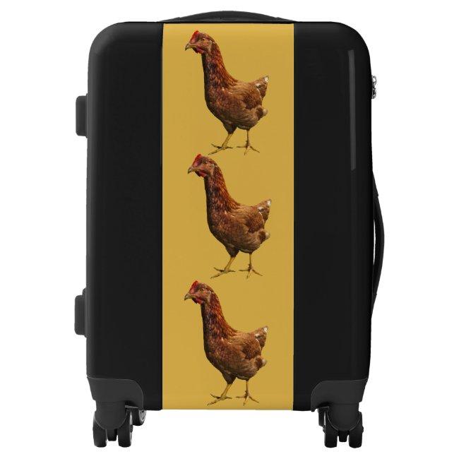 Rhode Island Red Hen Chicken Luggage