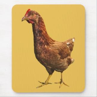 Rhode Island Red Hen Chicken Mousepad