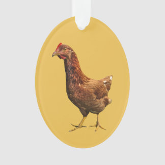 Rhode Island Red Hen Chicken Ornament