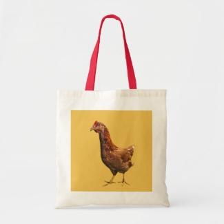 Rhode Island Red Hen Chicken Tote Bag