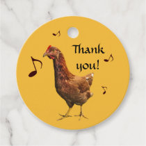 Rhode Island Red Hen Thank You  Bird Favor Tags