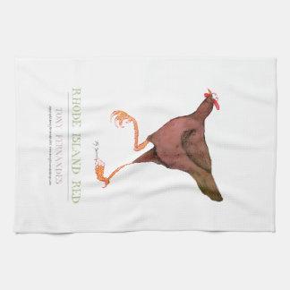 RHODE ISLAND RED HEN, tony fernandes Towel