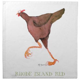 RHODE ISLAND RED HEN, tony fernandes Printed Napkins
