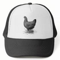 rhode island red hen trucker hat