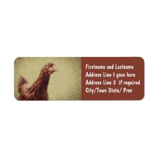 Rhode Island Red Pullet - Chicken Picture Return Address Label