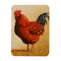 Rhode Island Red Rooster Chicken Magnet
