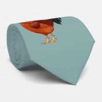 Rhode Island Red Rooster Crowing Neck Tie