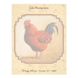 Rhode Island Red Rooster Letterhead