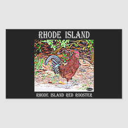 Rhode Island Red Rooster Rectangular Sticker