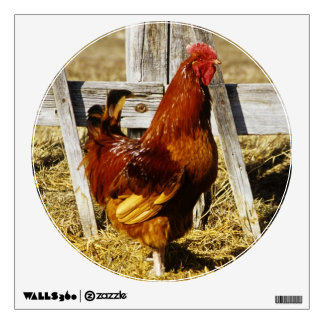 Rhode Island Red Rooster Wall Decals
