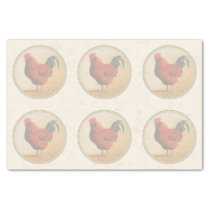 Rhode Island Red Rooster Yellow Background Tissue Paper