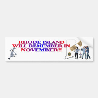 Rhode Island - Return Congress To The People!! Bumper Sticker