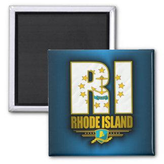 Rhode Island (RI) Imán Cuadrado