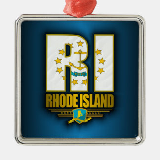 Rhode Island (RI) Metal Ornament
