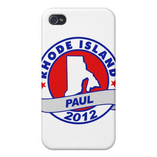 Rhode Island Ron Paul iPhone 4 Protectores