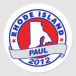 Rhode Island Ron Paul Pegatina Redonda