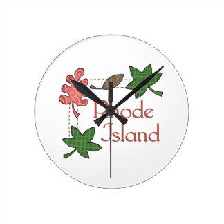 RHODE ISLAND ROUND CLOCK