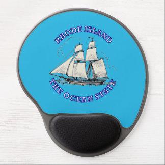 Rhode Island Sailing Ship Shield Gel Mouse Pad