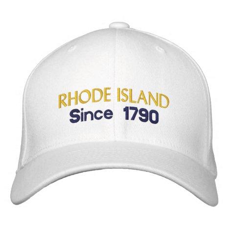 Rhode Island Since 1790 Embroidered Baseball Hat