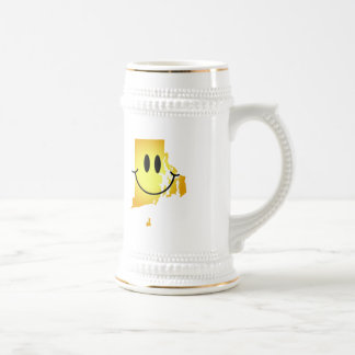 Rhode Island Smiley Face Beer Stein