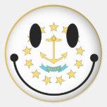 Rhode Island Smiley Sticker