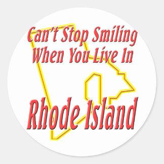Rhode Island - Smiling Classic Round Sticker