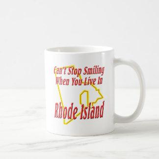 Rhode Island - Smiling Classic White Coffee Mug