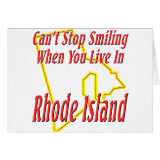 Rhode Island - Smiling Greeting Card