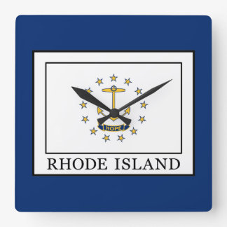 Rhode Island Square Wall Clock