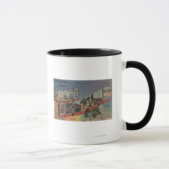 Rhode Island (State Capital/Flower) Mug