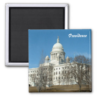 Rhode Island State Capitol 2 Inch Square Magnet