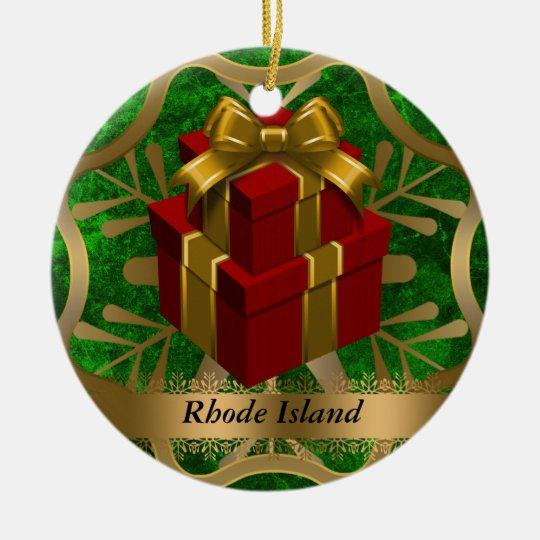 Rhode Island State Christmas Ornament | Zazzle.com
