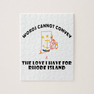 Rhode Island state flag and map designs Jigsaw Puzzle