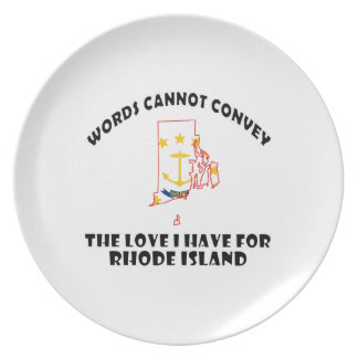 Rhode Island state flag and map designs Melamine Plate