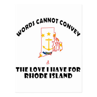 Rhode Island state flag and map designs Postcard