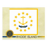 Rhode Island State Flag and Seal Post Card