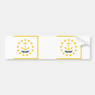 Rhode Island state flag Bumper Sticker