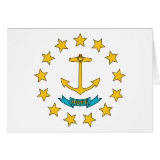 Rhode Island State Flag Card