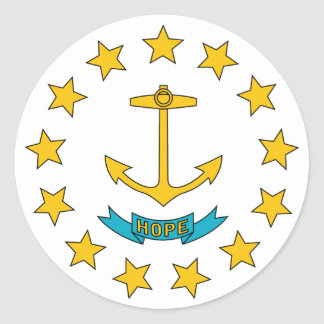 Rhode Island State Flag Classic Round Sticker