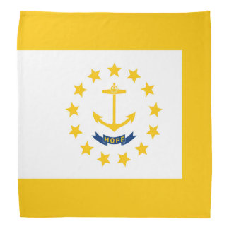 Rhode Island State Flag Design Decor Bandana