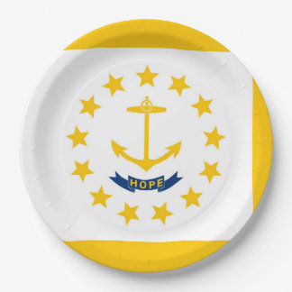 Rhode Island State Flag Design 9 Inch Paper Plate