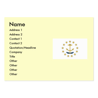 Rhode Island State Flag Large Business Cards (Pack Of 100)