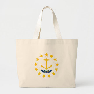 Rhode Island State Flag Large Tote Bag