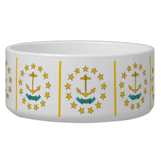 Rhode Island State Flag Pet Bowl
