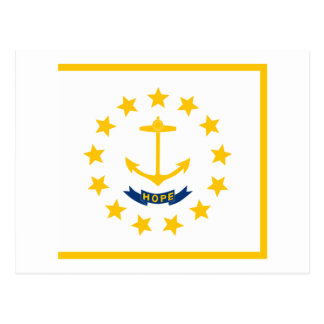 Rhode Island State Flag Post Card