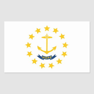 Rhode Island State Flag Rectangular Sticker