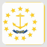 Rhode Island State flag Square Sticker