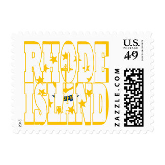 Rhode island  state flag text postage