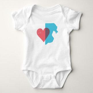 Rhode Island State Love Baby Shirt