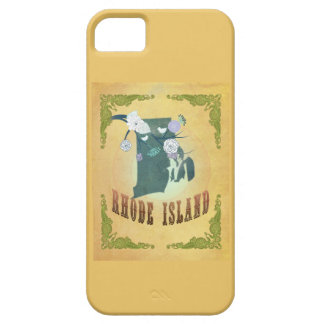 Rhode Island State Map- Passion Fruit Yellow iPhone 5 Cases